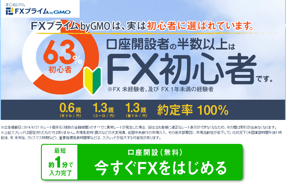 FXプライム 選べる外貨
